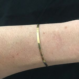 14 K Gold Herringbone Link Bracelet